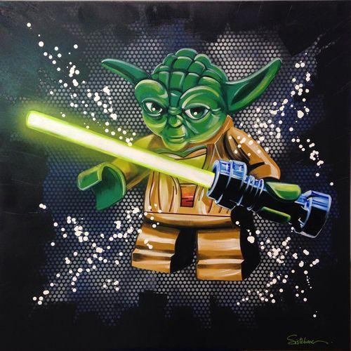 Yoda lego tableau